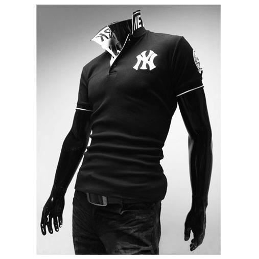 polo shirt homme col roul chemise manches courtes blanc achat vente polo cdiscount. Black Bedroom Furniture Sets. Home Design Ideas