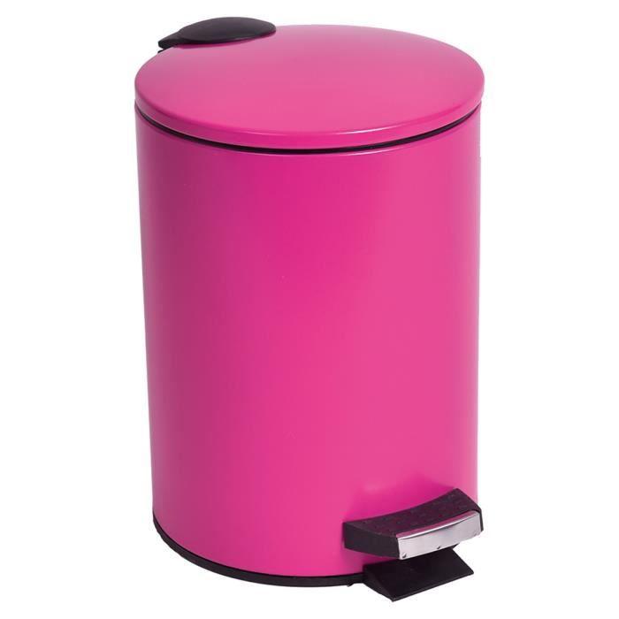 Poubelle de salle de bain fushia achat vente poubelle for Poubelle de salle de bain