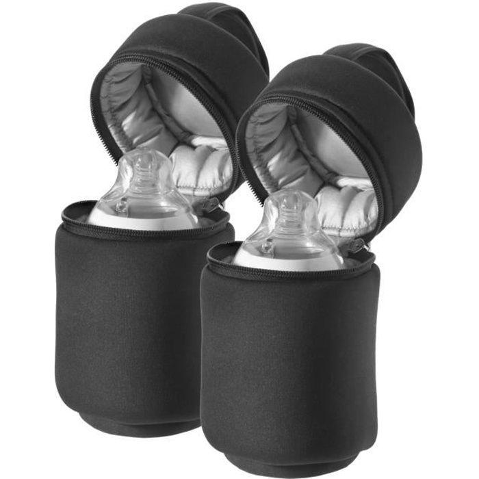 tommee tippee sac isotherme pour biberon x2 noir achat. Black Bedroom Furniture Sets. Home Design Ideas