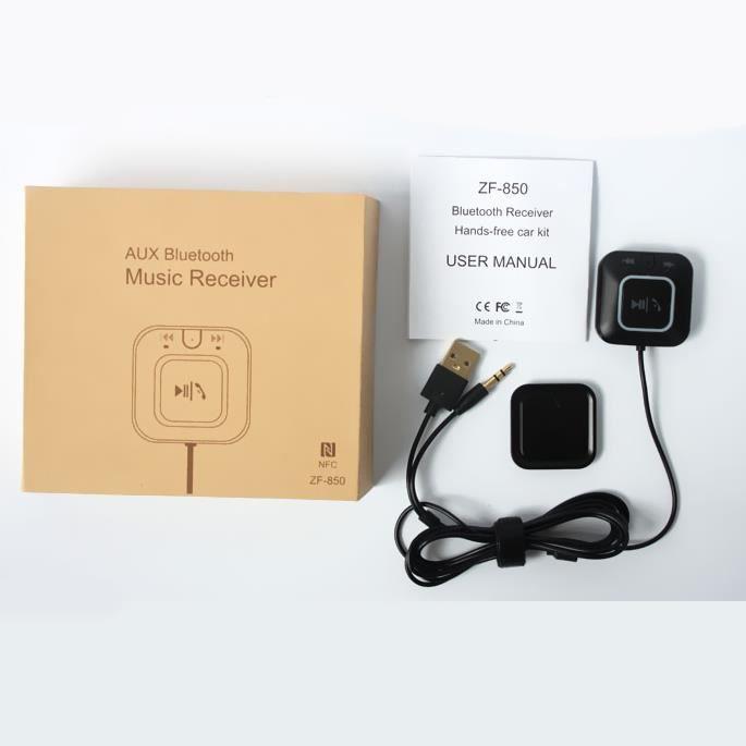 musique st r o bluetooth receiver kit mains libres de voiture avec plaque de montage magn tique. Black Bedroom Furniture Sets. Home Design Ideas