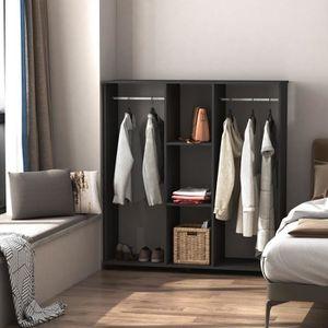penderie sur roulette achat vente penderie sur roulette pas cher cdiscount. Black Bedroom Furniture Sets. Home Design Ideas