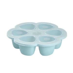 BEABA Multiportions silicone 6 x 90 ml blue