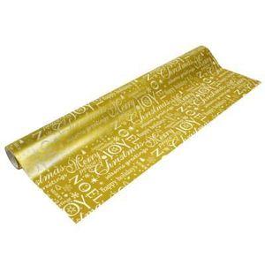 PAPIER CADEAU Papier cadeau largeur 50 cm : Doré