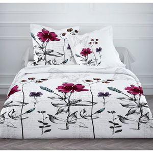 housse de couette 220x240 fleurie achat vente housse de couette 220x240 fleurie pas cher. Black Bedroom Furniture Sets. Home Design Ideas