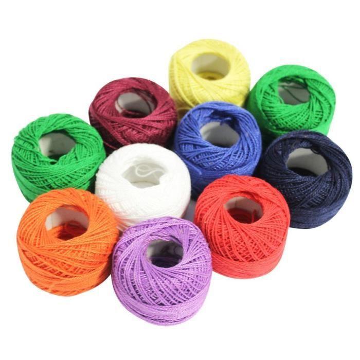 950 m tres de fil en coton de couleur pour crochet artisanal achat vente fil a broder a. Black Bedroom Furniture Sets. Home Design Ideas
