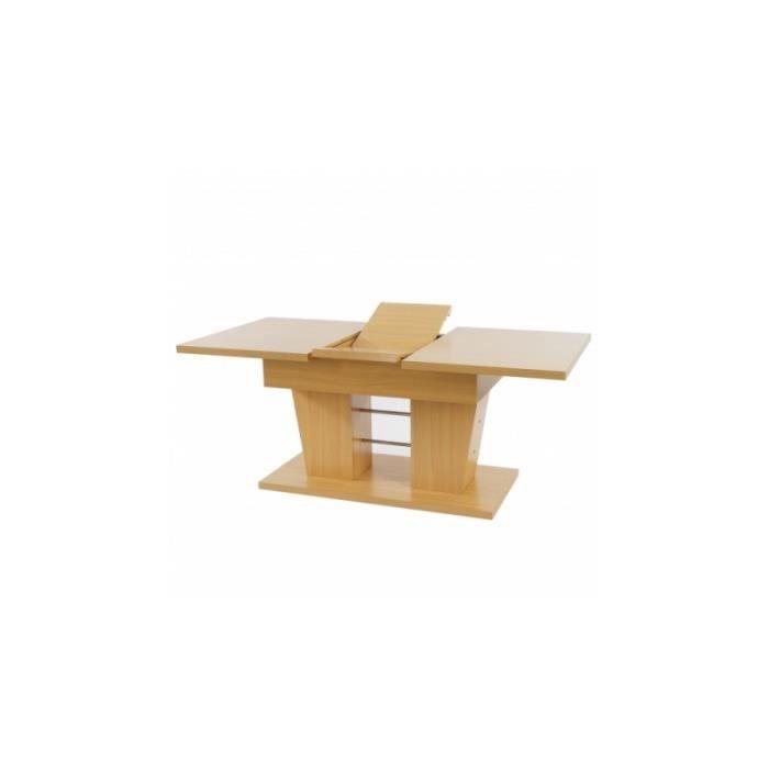 Table de salle manger 140 180 cm couleur h tre achat for Table de salle a manger 85 cm