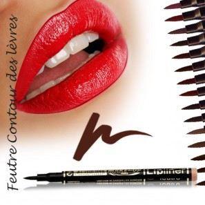 Feutre contour des lèvres semi permanent Noisette maquillage femme