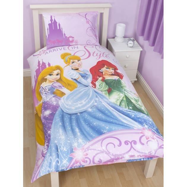 disney princesse parure de lit housse de co achat vente parure de drap cdiscount. Black Bedroom Furniture Sets. Home Design Ideas