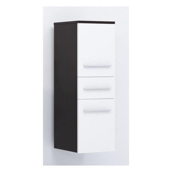 justhome lupo armoire murale suspendue de salle de bain weng blanc mat 92 x 30 x 32 cm. Black Bedroom Furniture Sets. Home Design Ideas