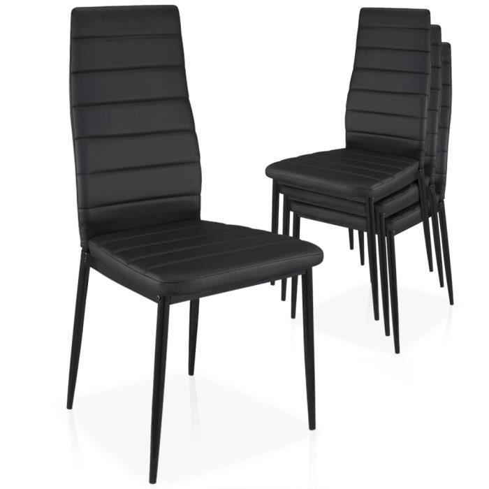 lot de 4 chaises stratus empilables noir achat vente chaise m tal cdiscount. Black Bedroom Furniture Sets. Home Design Ideas