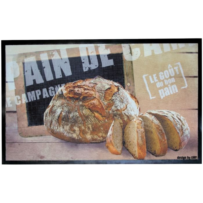 Tapis de cuisine design retro terroir chic pain ca achat for Orval creation tapis de cuisine