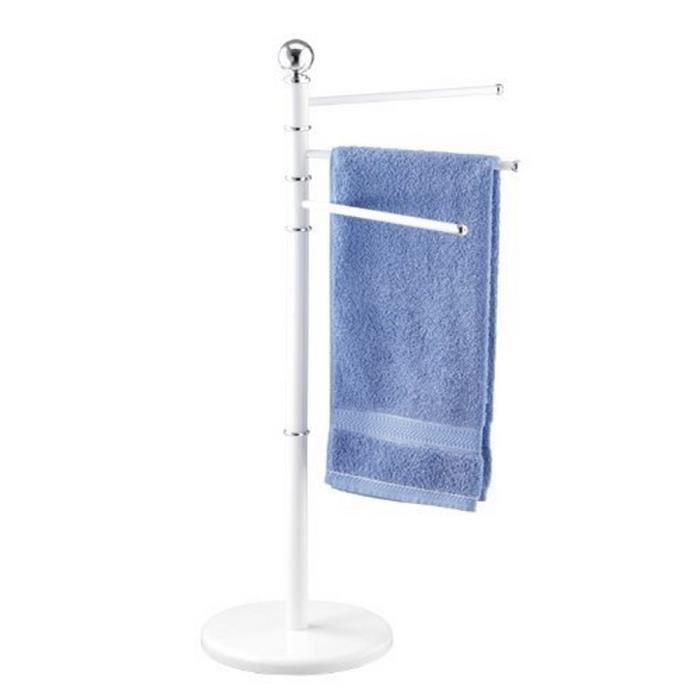 Porte serviettes 3 bras blanc achat vente porte for Porte serviettes de table