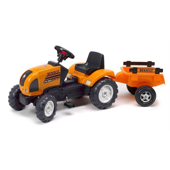 falk tracteur p dales renault avec remorque achat. Black Bedroom Furniture Sets. Home Design Ideas