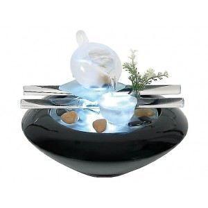 FONTAINE INTÉRIEURE Fontaine design ceramique zen noire