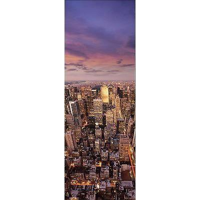 Papier peint pour porte trompe l oeil d co new york r f for Papier peint trompe oeil porte