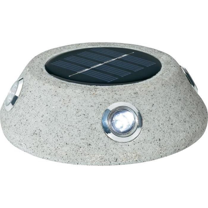 Lampe de jardin solaire led en pierre basetech achat vente lampe de jardin solaire l for Lampe solaire jardin brico