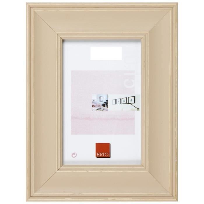 brio cadre photo constance beige 15x20 cm achat vente cadre photo bois soldes cdiscount. Black Bedroom Furniture Sets. Home Design Ideas