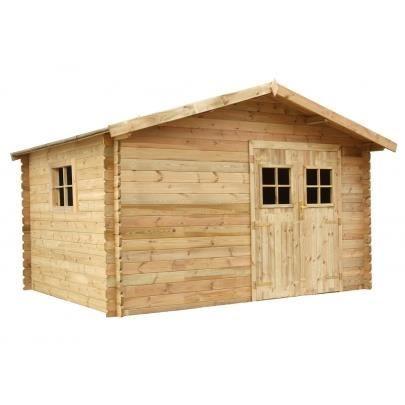 Abri de jardin kahoya en bois trait classe iii s achat for Abri jardin traite autoclave classe 4