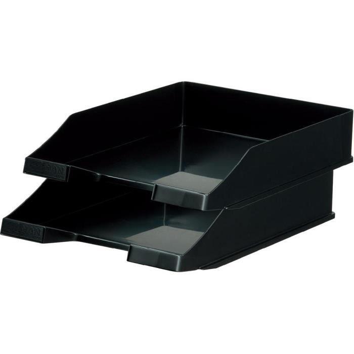 bo tes de rangement pour courrier han c4 noir 1 achat vente porte courrier bac bo tes de. Black Bedroom Furniture Sets. Home Design Ideas