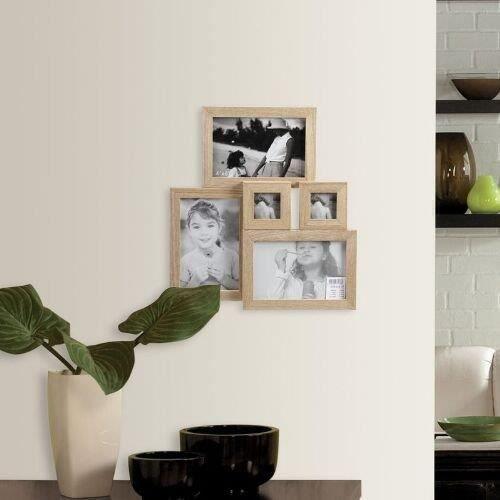 cadre photo mural woody pour plusieurs photos achat vente cadre photo bois cdiscount. Black Bedroom Furniture Sets. Home Design Ideas