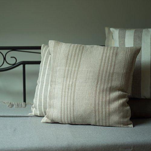 Taie d 39 oreiller de d cor en lin linum naturel achat - Linum linge de maison ...
