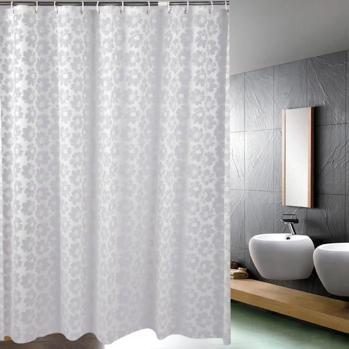 rideau de douche galet imperm able rideau de salle de bain. Black Bedroom Furniture Sets. Home Design Ideas