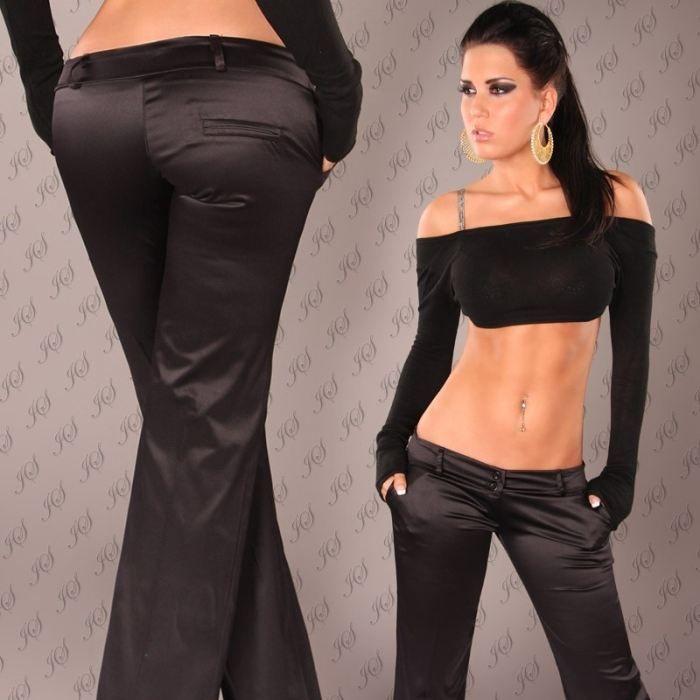 pantalon habill chic et glamour noir achat vente pantalon cdiscount. Black Bedroom Furniture Sets. Home Design Ideas