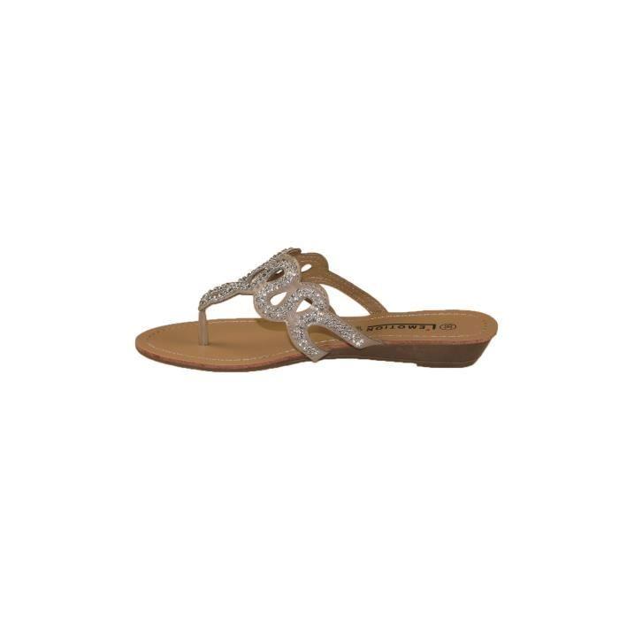 sandales petit talon compens taupe achat vente sandale nu pieds cdiscount. Black Bedroom Furniture Sets. Home Design Ideas