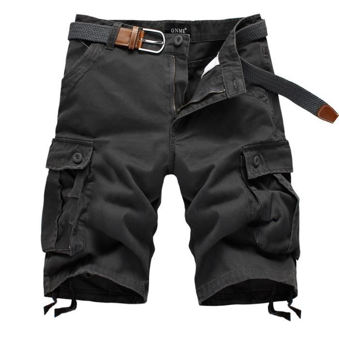 bermuda homme cargo shorts homme multi poches s gris achat vente bermuda cdiscount. Black Bedroom Furniture Sets. Home Design Ideas