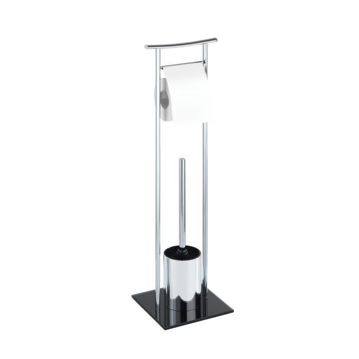 Ensemble wc sur pied japon chrome noir achat vente set accessoires ense - Ensemble accessoires wc ...