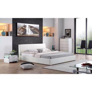 lit 140 200 achat vente lit 140 200 pas cher cdiscount. Black Bedroom Furniture Sets. Home Design Ideas