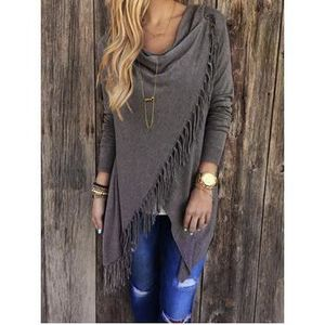 PULL Tendance Poncho/Pull Col bateau pour Femme/Fill...