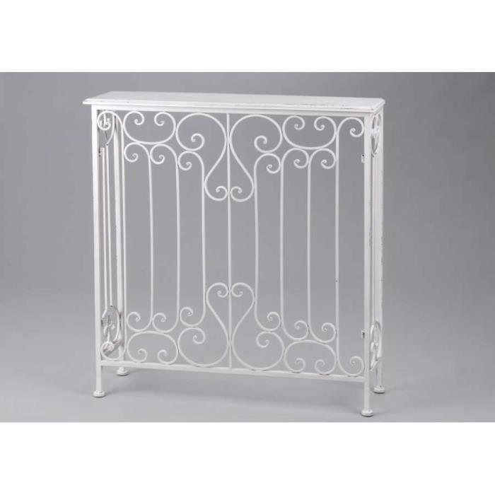 console fer blanc ou cache radiateur dimension achat. Black Bedroom Furniture Sets. Home Design Ideas