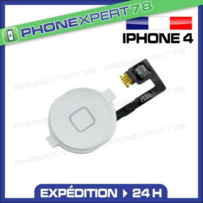 nappe bouton home iphone 4 blanc achat pi ce t l phone pas cher avis et meilleur prix. Black Bedroom Furniture Sets. Home Design Ideas