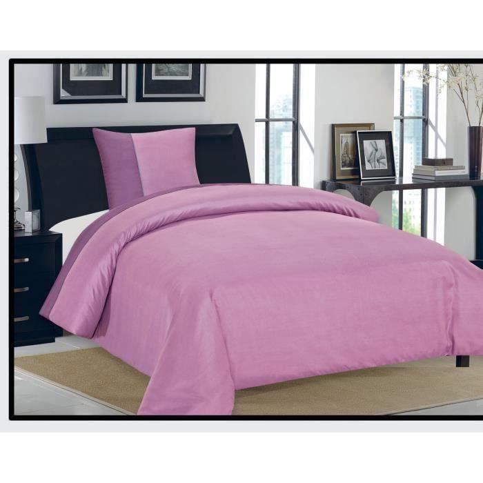 housse de couette emeraude 1 place 100 microfibre 85 gsm lilas violet achat vente housse de. Black Bedroom Furniture Sets. Home Design Ideas