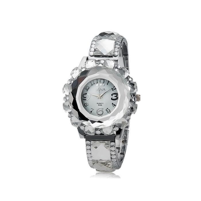 Ronde des femmes dial d coration en cristal qua achat vente montre cdiscount for Montre decoration