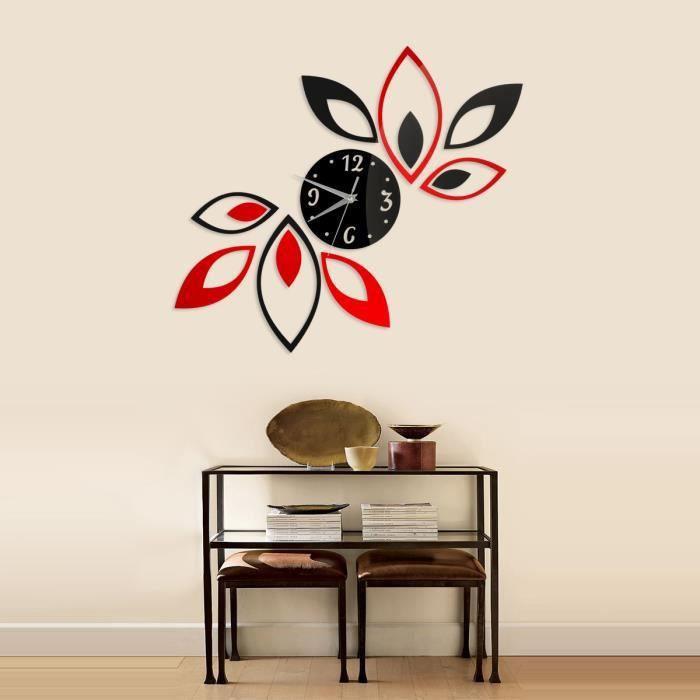 Sticker muraux miroir lotus jolie diy pour salon chambre - Stickers muraux pour salon ...