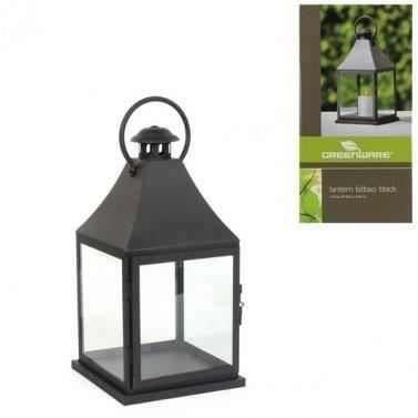 lanterne metal noire achat vente photophore lanterne cdiscount. Black Bedroom Furniture Sets. Home Design Ideas