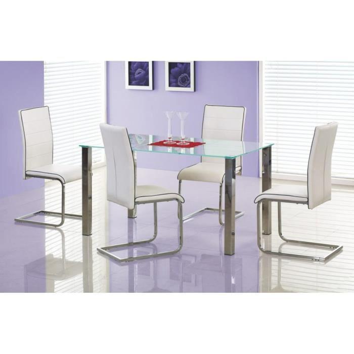 Justhome ensemble table zeus en verre 4 chaises k148 achat vente table a manger complet - Meuble zeus ...