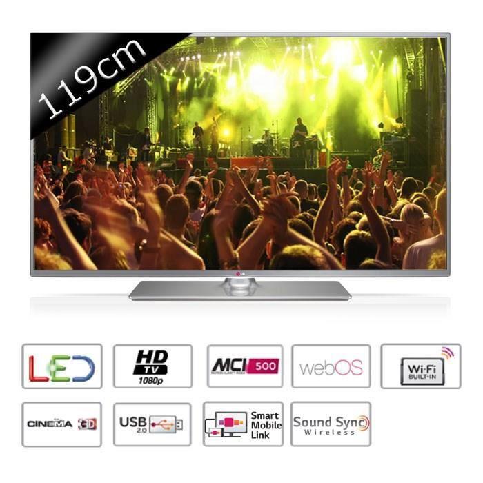 lg 47lb650v smart tv led full hd 3d 119cm t l viseur led. Black Bedroom Furniture Sets. Home Design Ideas