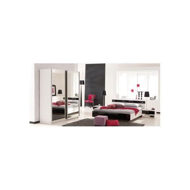 Lit 160x200 2 chevets achat vente chambre compl te for Chambre complete lit 160x200