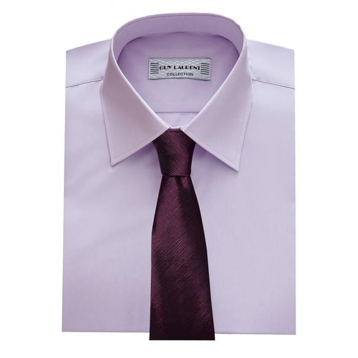 Chemise homme parme coupe droite violet achat vente - Chemise coupe droite homme ...