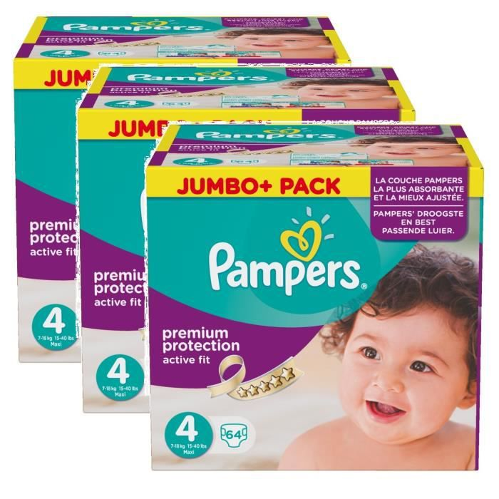 pampers active fit taille 4 maxi 7 18kg jumbo plus pack. Black Bedroom Furniture Sets. Home Design Ideas