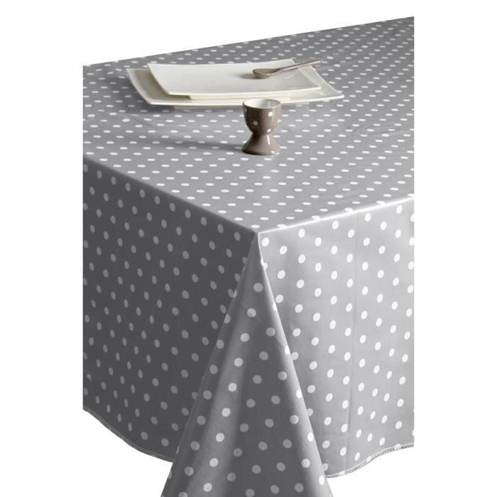 nappe rectangle en toile cir e grise gris achat vente nappe de table cdiscount. Black Bedroom Furniture Sets. Home Design Ideas