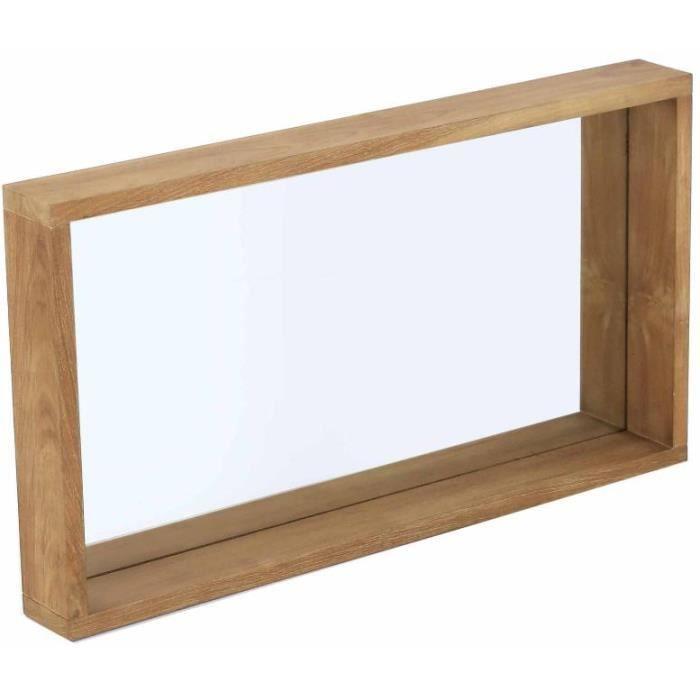 Miroir rectangulaire aqua 90cm achat vente miroir for O miroir la rochelle