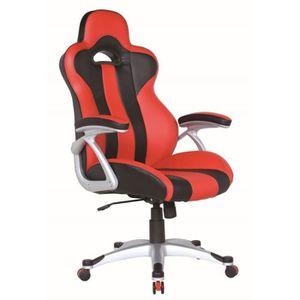 fauteuil de bureau siege baquet achat vente fauteuil de bureau siege baquet pas cher cdiscount. Black Bedroom Furniture Sets. Home Design Ideas