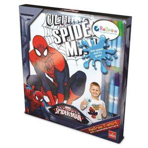 LIVRE DE COLORIAGE Set de costumisation : Tee-Shirt à colorier Spider