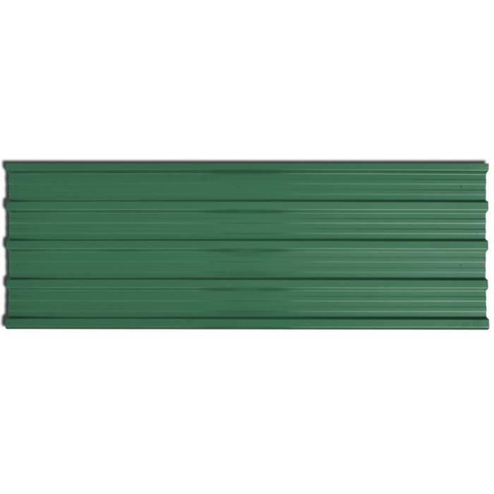 Materiaux de construction panneau de toiture en metal vert for Materiaux toiture