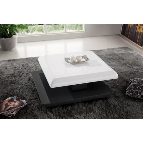 Table basse modulable blanche grise design nano achat for Table basse blanche et grise