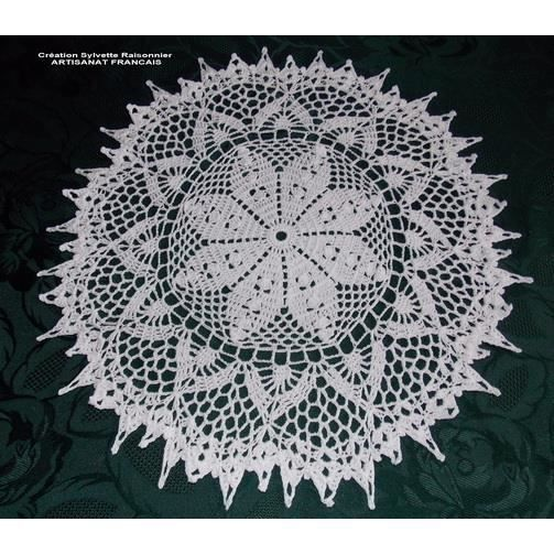 napperon crochet artisanat francais 40cm blanc achat